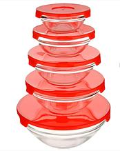 Набор судочков стекло А-Плюс 0122 5 шт