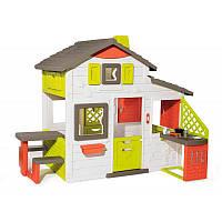 Домик для друзей со столиком, кухней и дверным звонком Smoby 810202