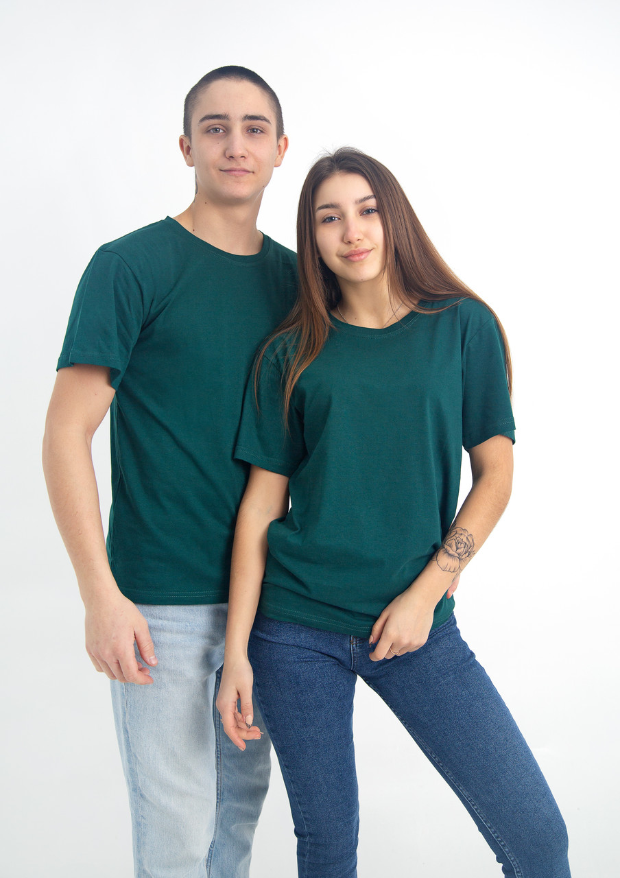Універсальна футболка вільного крою (темно-зелена)