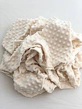 Ткань плюшевая Minky Dots молочный (пупырышки)