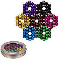 Магнитный Neo конструктор головоломка Антистресс неокуб радуга цветной, 252 шарика бусины 5 мм