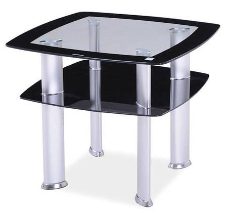 Журнальный столик DARIA D Signal Прозрачный 60x60x55, фото 2