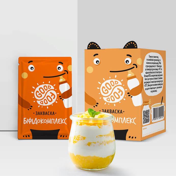 Закваска для приготування йогурту Бифидокомплекс Good food (1 пакетик)
