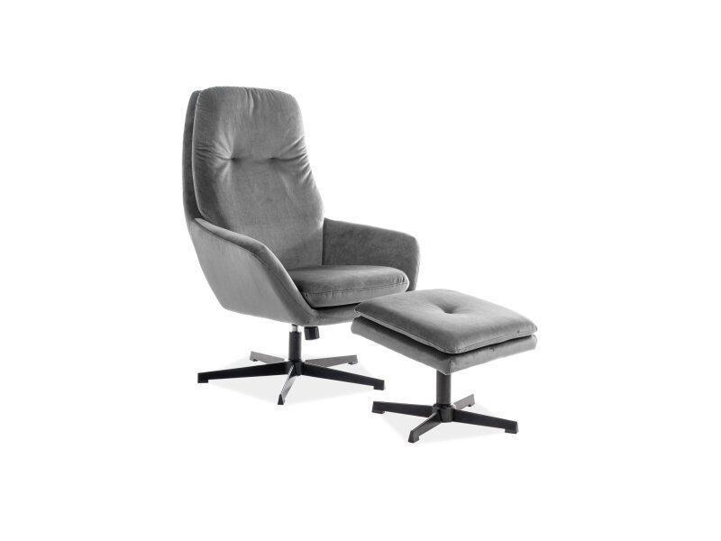 Кресло FORD Velvet Signal Серый
