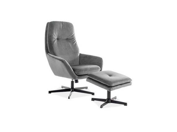 Кресло FORD Velvet Signal Серый, фото 2