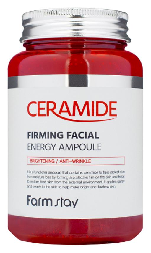 Укрепляющая ампульная крем-сыворотка для лица с керам FarmStay Ceramide Firming Facial Cream Ampoule, 250 мл