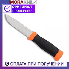 Нож Morakniv Outdoor 2000 Orange из нержавеющей стали Моракнайв оранжевый цвет