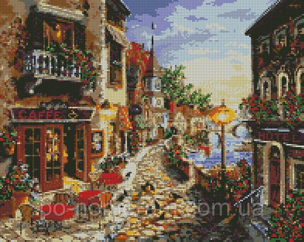 Алмазная живопись Идейка Вечерняя романтика (AM6068) 40 х 50 см (На подрамнике)