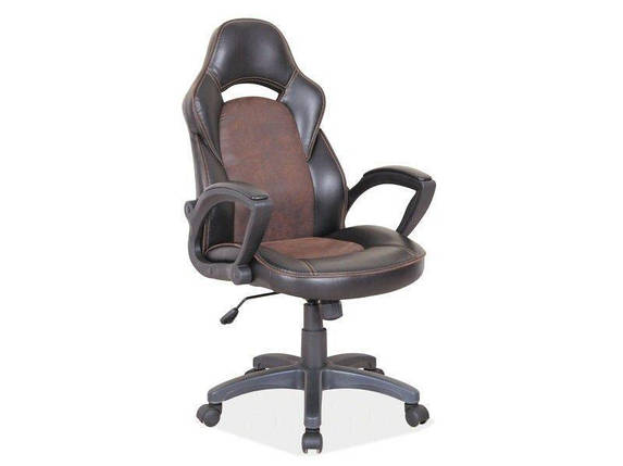Компьютерное кресло Q-115 Signal Черный / Коричневый, фото 2