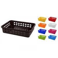 Корзина пластиковая №2  разноцветная Ламела 272, фото 1