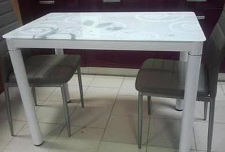 Стол Стеклянный DAMAR Signal 100X60 Белый, фото 2