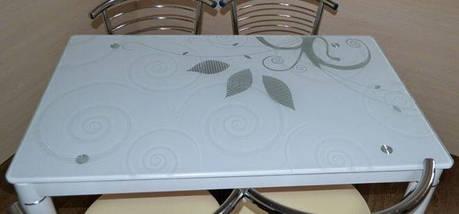 Стол Стеклянный DAMAR Signal 100X60 Белый, фото 3