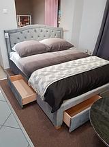 Кровать ELECTRA Velvet Signal 160x200 Серый, фото 3