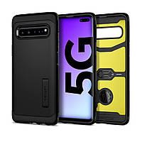 Чехол Spigen для Samsung Galaxy S10 5G - Tough Armor, Black (614CS26155), фото 1