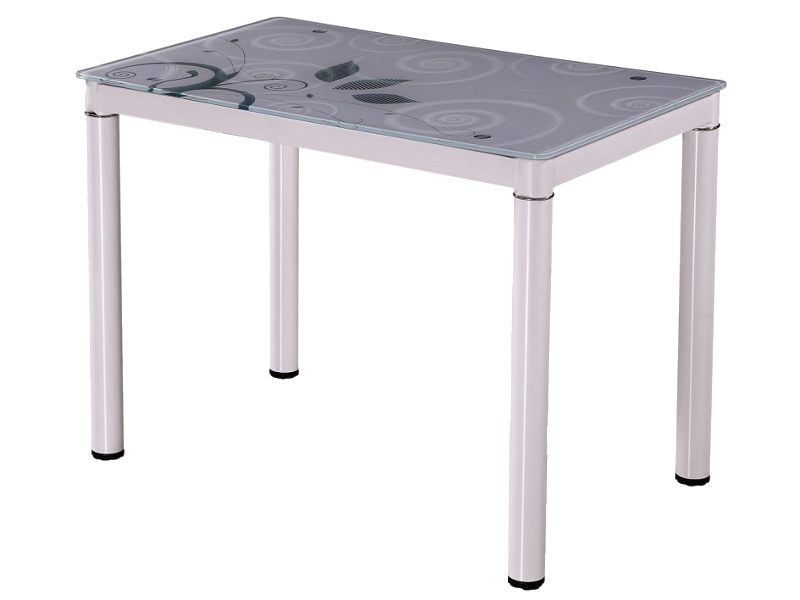 Стол Стеклянный DAMAR Signal 80X60 Белый