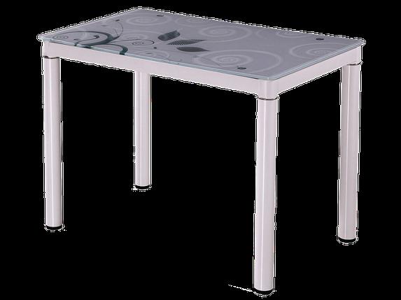 Стол Стеклянный DAMAR Signal 80X60 Белый, фото 2