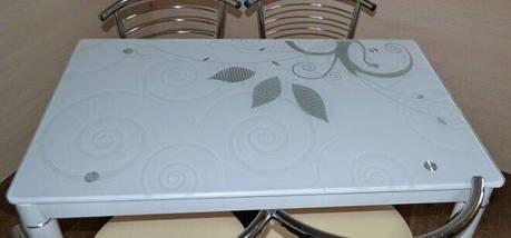 Стол Стеклянный DAMAR Signal 80X60 Белый, фото 3