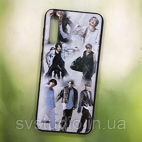 Чехол с картинкой Samsung A70 (с принтом, с фото, именной)