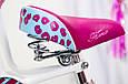 Дитячий фіолетовий велосипед для дівчинки Flora 20 дюймів з кошиком і багажником для ляльки від 10 років, фото 8