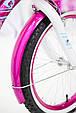 Дитячий фіолетовий велосипед для дівчинки Flora 20 дюймів з кошиком і багажником для ляльки від 10 років, фото 10