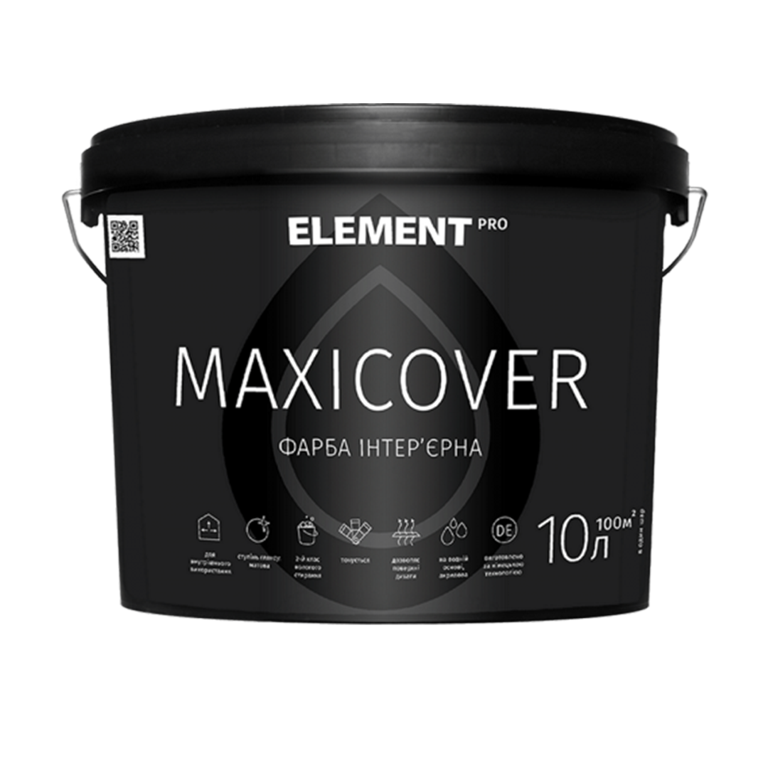 Интерьерная латексная краска Element Pro Maxicover матовая 10л