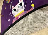 """Бесплатная доставка! Утепленный коврик """"Космо Китти""""  (150 см диаметр), фото 9"""
