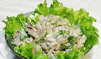 Салат с орехами и шампиньонами