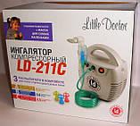 Ингалятор компрессорный LD-211C для взрослых и детей, универсальный, лечение верхних и нижних дых. путей, фото 2