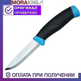 Нож Morakniv Companion Blue из нержавеющей стали Моракнайв голубой цвет