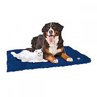 Croci (Крочи) Furry- Согревающий коврик для собак и кошек 40х38 см (синий)