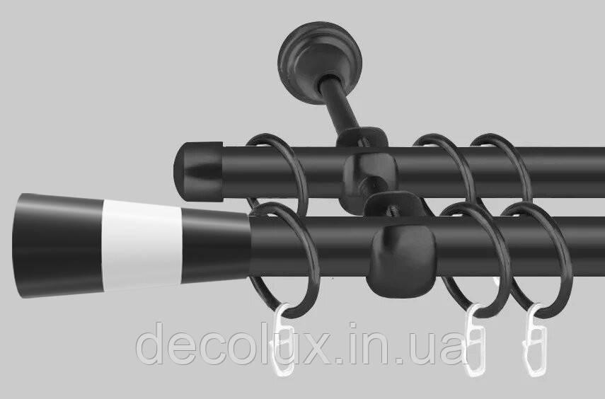 Карниз для штор металевий, однорядний 19 мм , Модуло