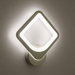 Настенный светодиодный светильник, бра LUMINARIA TETRA 24W S250 ON/OFF WHITE