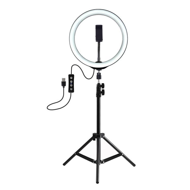 Кольцевые лампы | Кольцевая LED лампа USB 26см для селфи с штативом 2 м