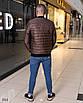 Куртка мужская легкая бомбер на змейке плащевка+100 синтепон 48,50,52,54, фото 7