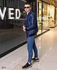 Куртка мужская легкая бомбер на змейке плащевка+100 синтепон 48,50,52,54, фото 4