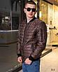 Куртка мужская легкая бомбер на змейке плащевка+100 синтепон 48,50,52,54, фото 6