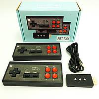 Игровая ретро приставка консоль 2 беспроводных контроллера джойстика 8 бит 600 игр UKC Y2+ HD черный