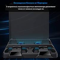 Зарядная док-станция для Playstation 4 / PS4 SLIM / PRO с 2 с LED зарядкой для 2-х геймпадов, фото 2