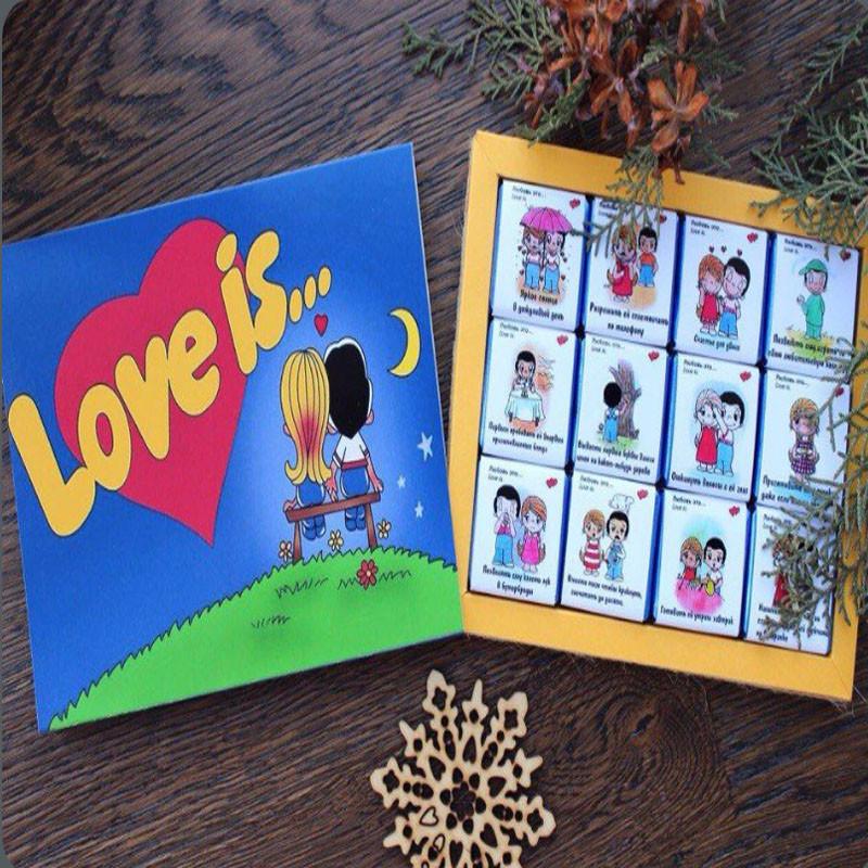 Шоколадный набор Love is (12 шоколадок)