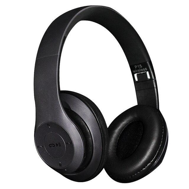 Беспроводные Bluetooth стерео наушники Wireless P15, черные