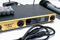 Бездротовий мікрофон   Бездротова радіосистема на два мікрофона DM UKC-KM688, фото 2