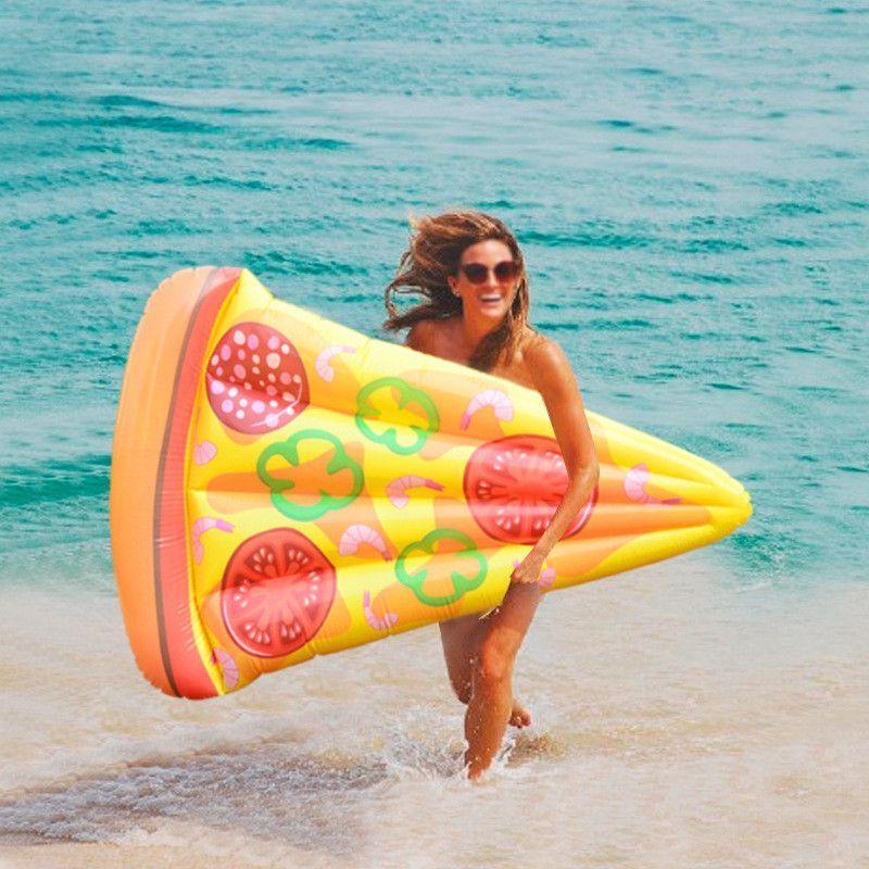 Пляжный надувной матрас-плот Пицца 190*130 см