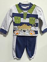 Теплый костюм для мальчика с мишкой р. 74