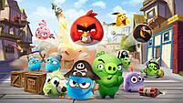 Ручний вентилятор Angry Birds (вибір кольору) | Дитячий маленький іграшковий вентилятор Злі пташки, фото 3