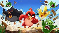 Ручний вентилятор Angry Birds (вибір кольору) | Дитячий маленький іграшковий вентилятор Злі пташки, фото 4
