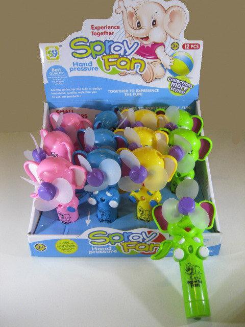 Ручний вентилятор Слоник (вибір кольору) | Дитячий маленький іграшковий вентилятор