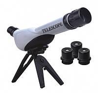 Телескоп детский портативный со сменными обьективами 20х 30х 40х Easy Science