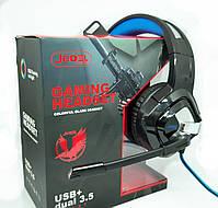 Игровые наушники | Наушники проводные Jedel GH201 с микрофоном и подсветкой, фото 2