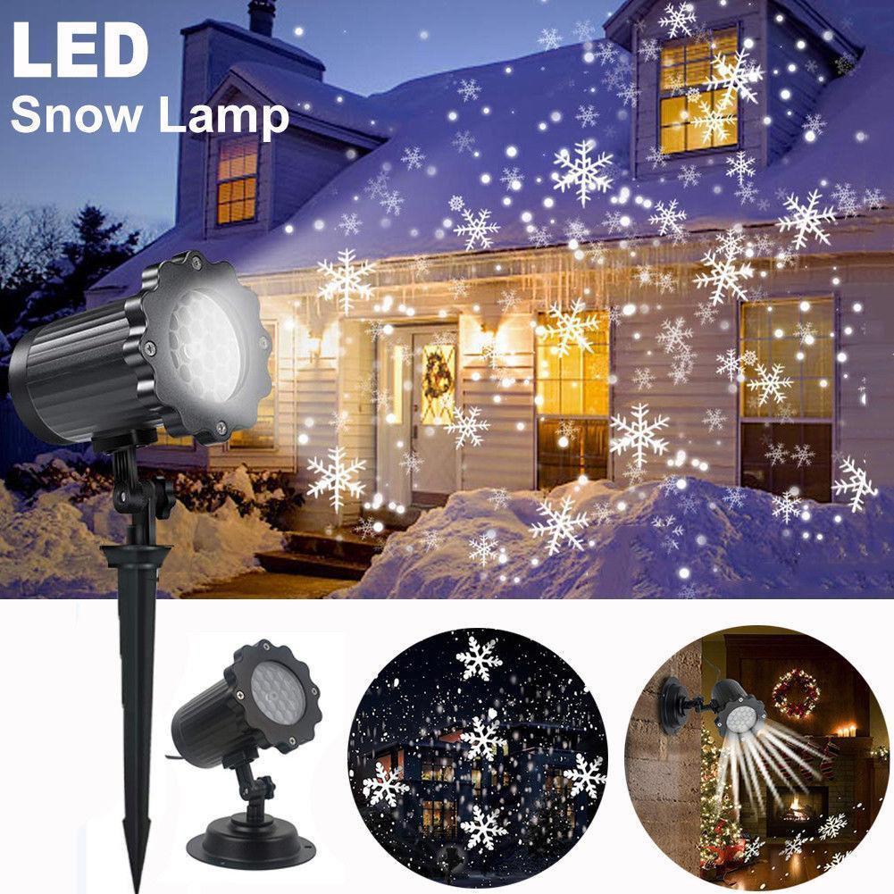 Лазерний проектор   Вуличний проектор сніжинки   Портативний проектор Laser Projector Lamp 4 картриджа