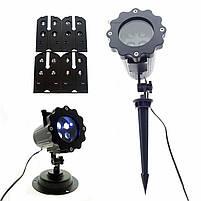 Лазерний проектор   Вуличний проектор сніжинки   Портативний проектор Laser Projector Lamp 4 картриджа, фото 2